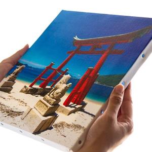 キャンバス地パネル写真「岩子島の厳島神社鳥居」