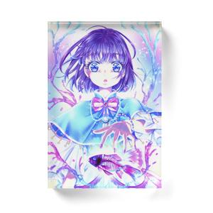 【アクリルブロック】骨格透明標本少女