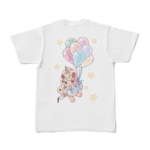 空飛ぶユニコッフィー白Tシャツ