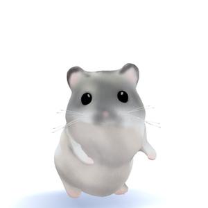 オリジナル3Dモデル「ハムスター/Hamster」