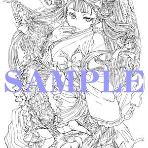 南澤久佳のたのしいぬりえⅡ~PDF版【白】~+jpg版