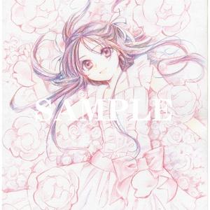 イラスト原画#89「花と森」