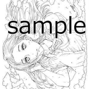 南澤久佳のたのしいぬりえⅢ~PDF版【白】~+jpg版