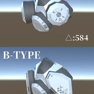 サイバーパンク風ガスマスク(VRChat向けアクセサリー)