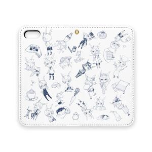 仔兎君詰め合せ 手帳型iPhoneケース