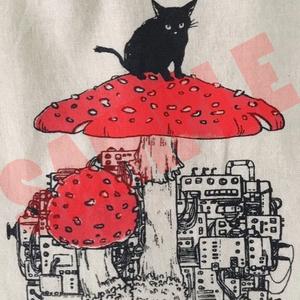 猫とキノコと機械エコバッグ