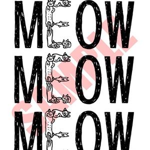 MEOW猫エコバッグ