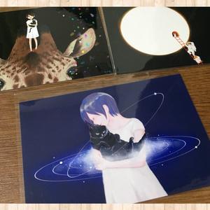 銀河猫のポストカード