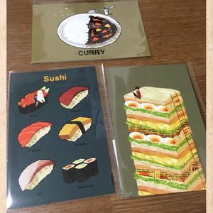 お寿司のポストカード