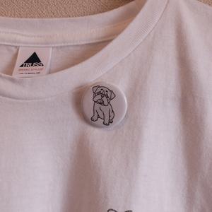 ラブロマTシャツ&犬缶バッジセット