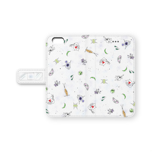 「微生物」 手帳型iPhoneケース