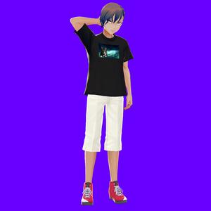 [VRoid]宇宙ネコTシャツ