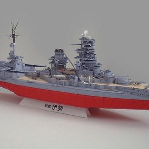 戦艦伊勢(航空戦艦時)1/400ペーパークラフト展開図