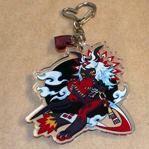 Acrylic keychain(Tezcatlipoca)