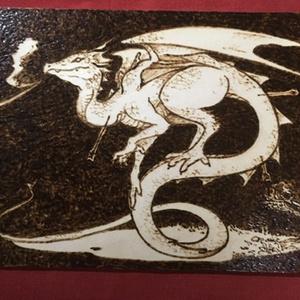 焼き絵 木ハガキ ドラゴン