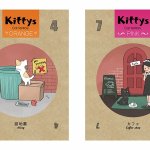 Kittys 「かわいいだけじゃ、おなかはふくれない」簡単可愛いカードゲーム