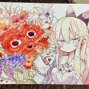 flowerポストカード