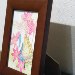 原画「雪割草とヒメギフチョウ」