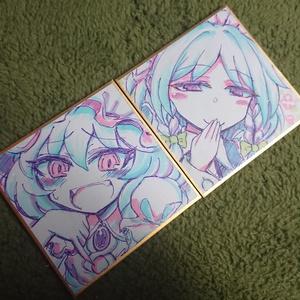 『レミリア咲夜』姫色紙二枚セット