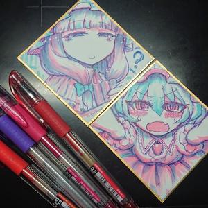 『レミリアパチュリー』姫色紙二枚セット