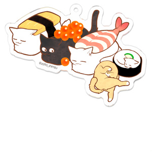 猫寿司(ガリちゃん付き)アクキー