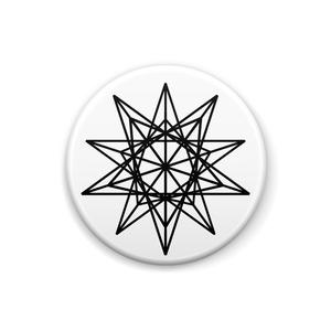 大星形十二面体缶バッジ