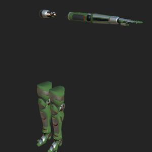 機械的な左腕と両足のセット
