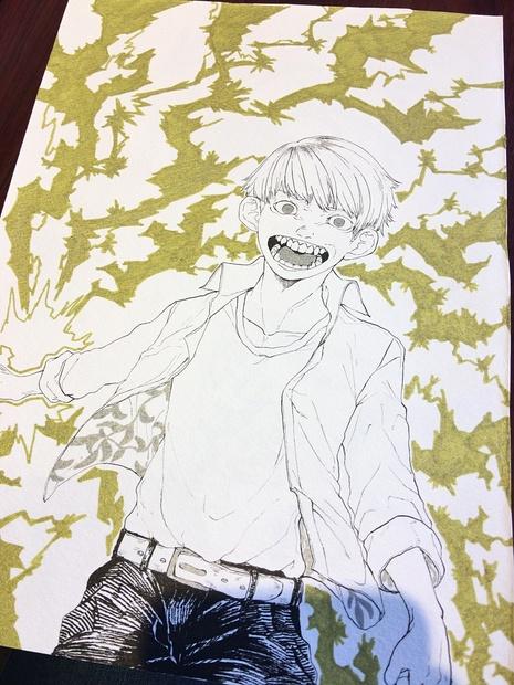 オリジナルイラスト原画 中サイズ Syugarufu Booth