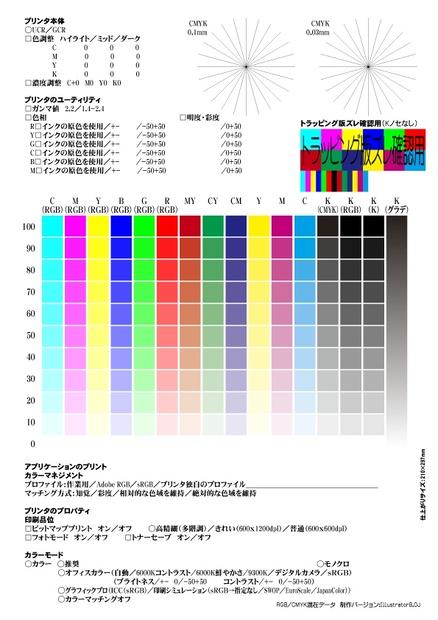 印刷 カラーチャート ダウンロード a4 pdf