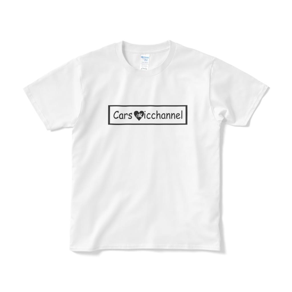 みっちゃんネル LOGO Tシャツ(白地×黒)
