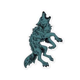 狼ステッカー