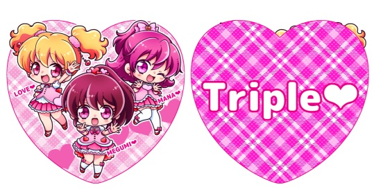 Triple♡アクリルキーホルダー
