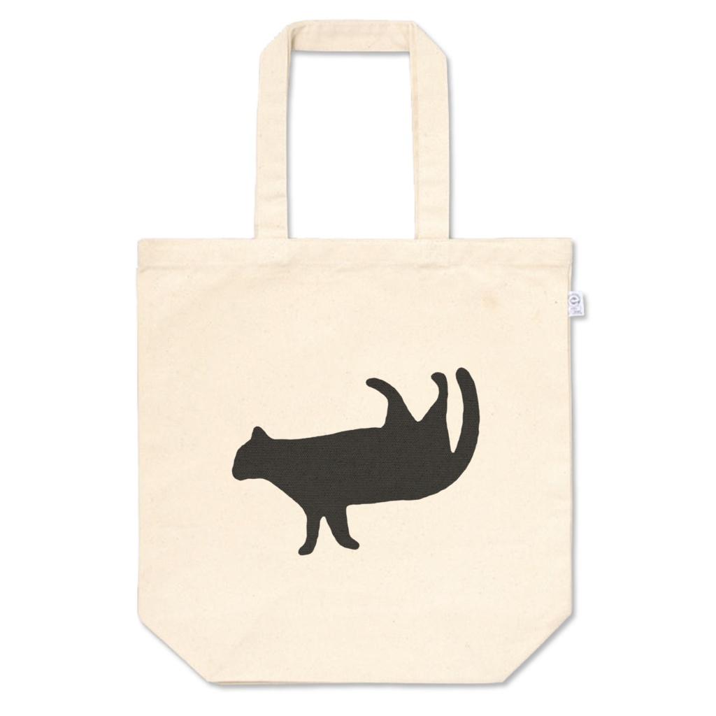落下する猫のトートバッグ
