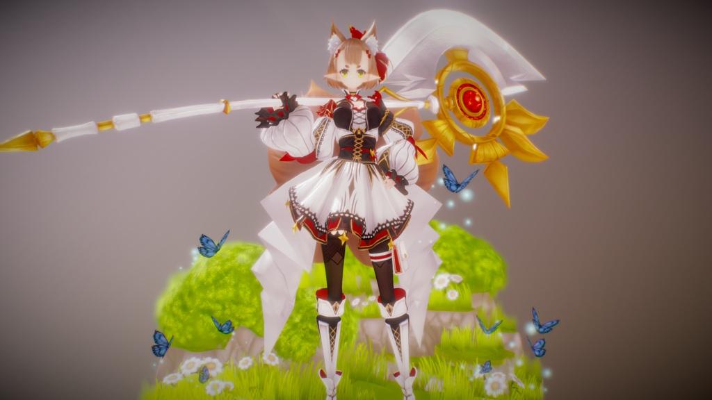Original Character - Hoshi [Nine Tails Fox] - Humanoid Rig + UnityPackage + VRM File