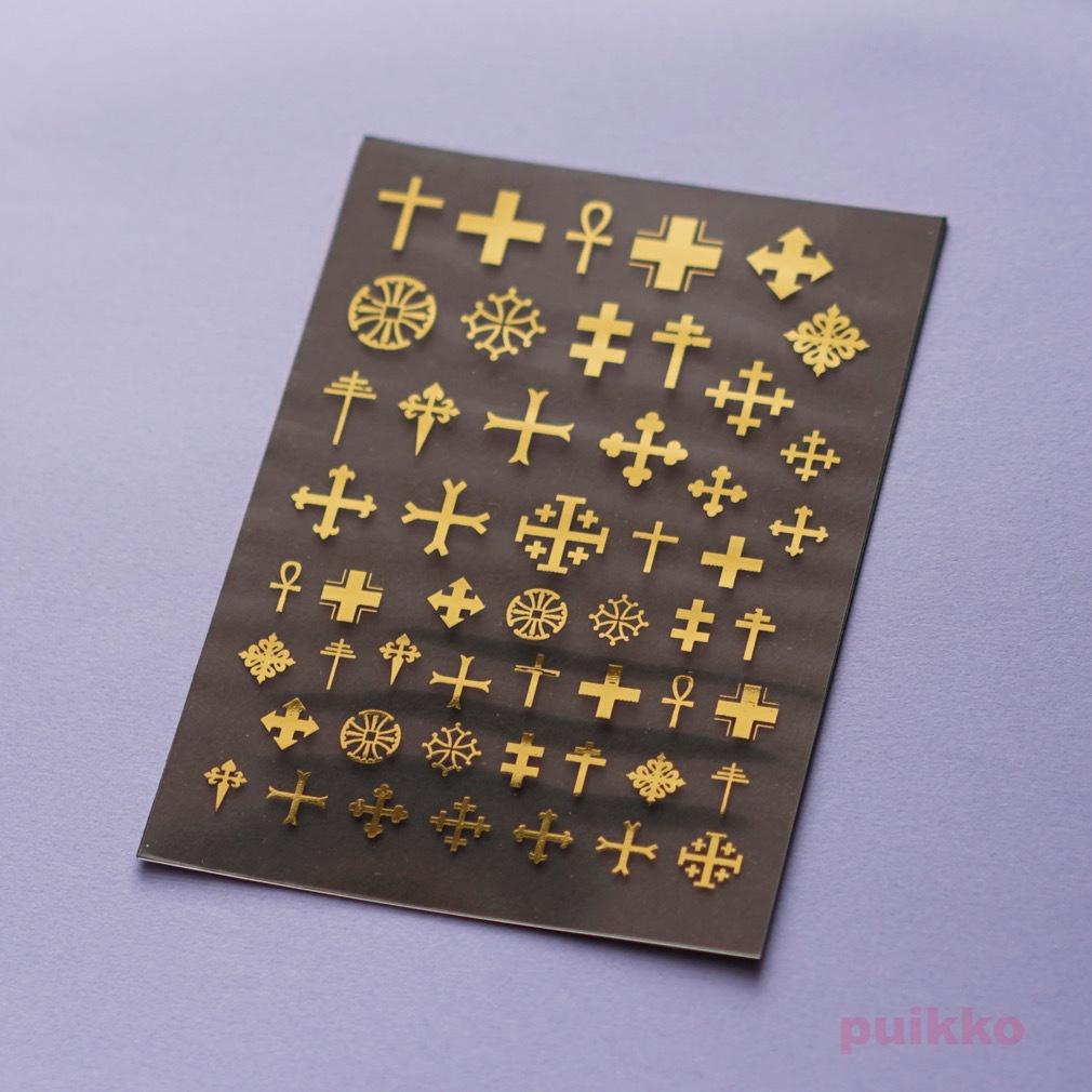 十字1 箔押し レジン封入用フィルム