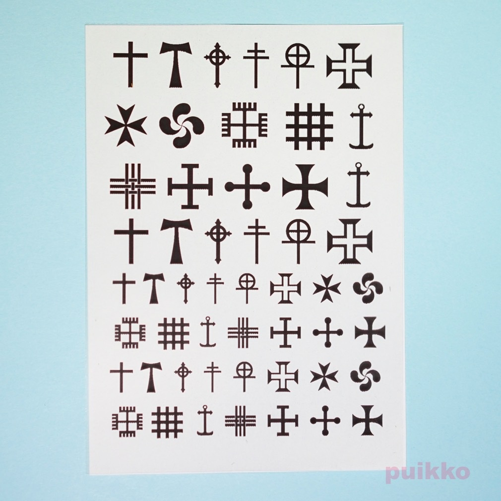 十字2 レジン封入用フィルム