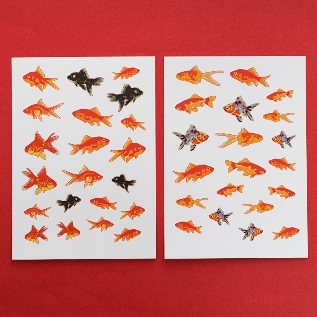 透明シール 金魚イラスト3