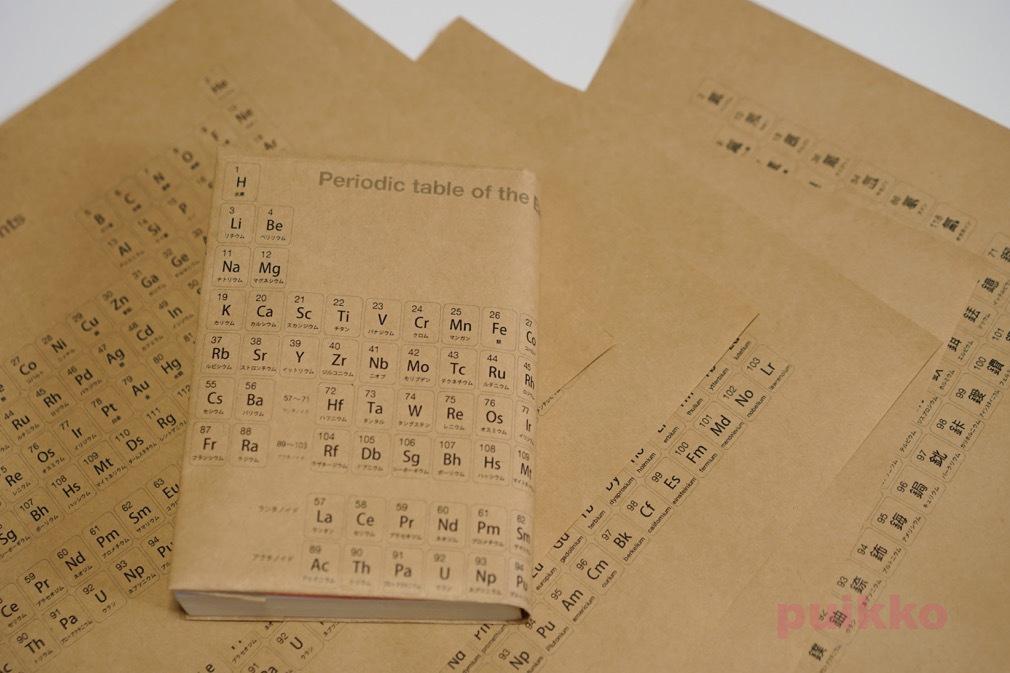 紙製ブックカバー 元素周期表