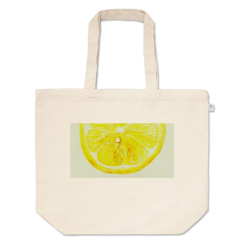 レモンのトートバッグ