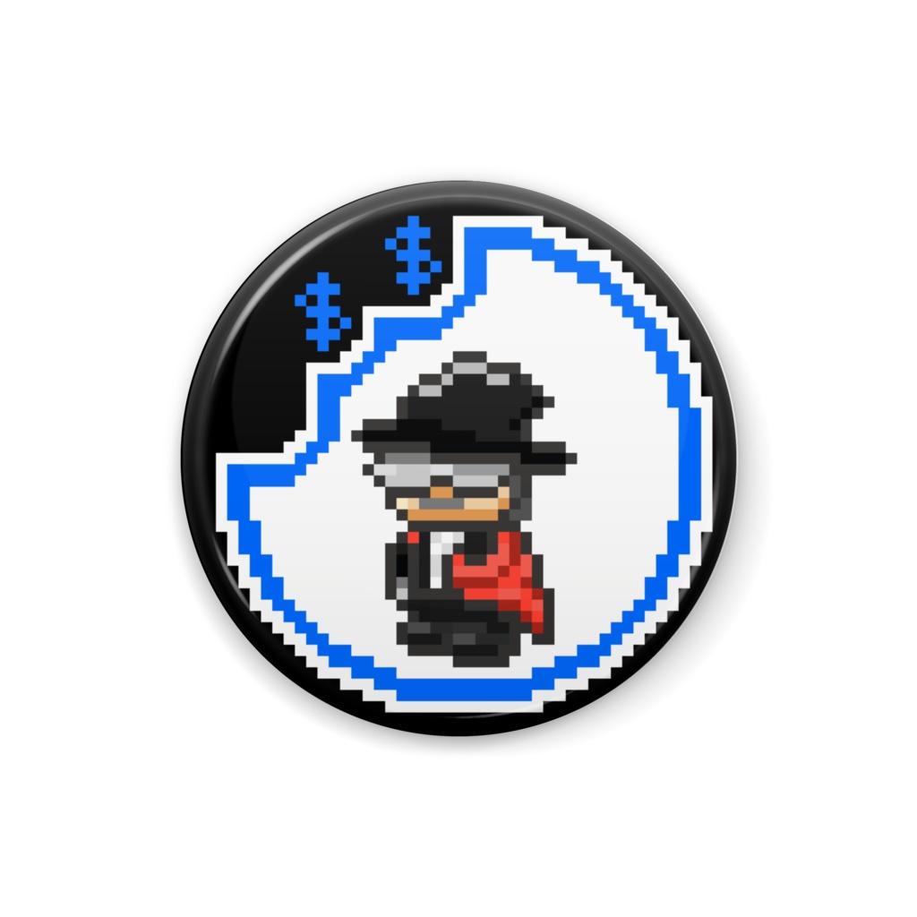 「ドット絵ファントム」 ギャングスターパラダイス2次創作缶バッジ