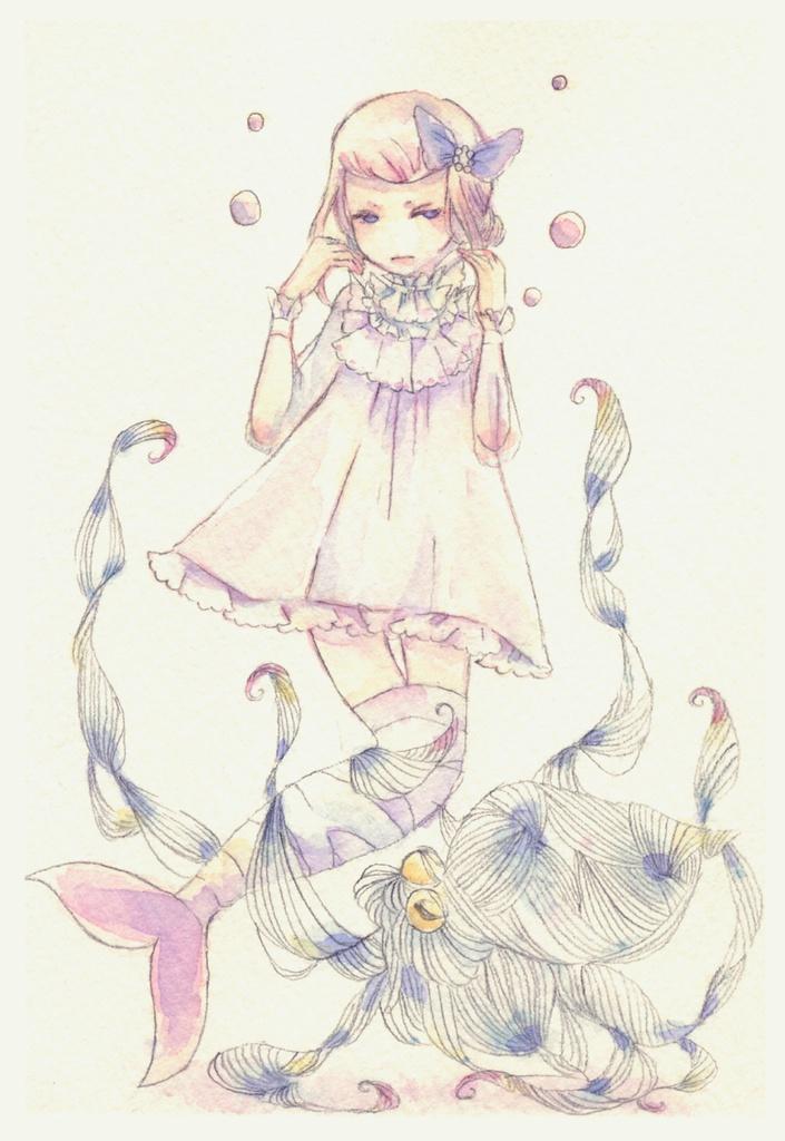 童話ポストカード 人魚姫