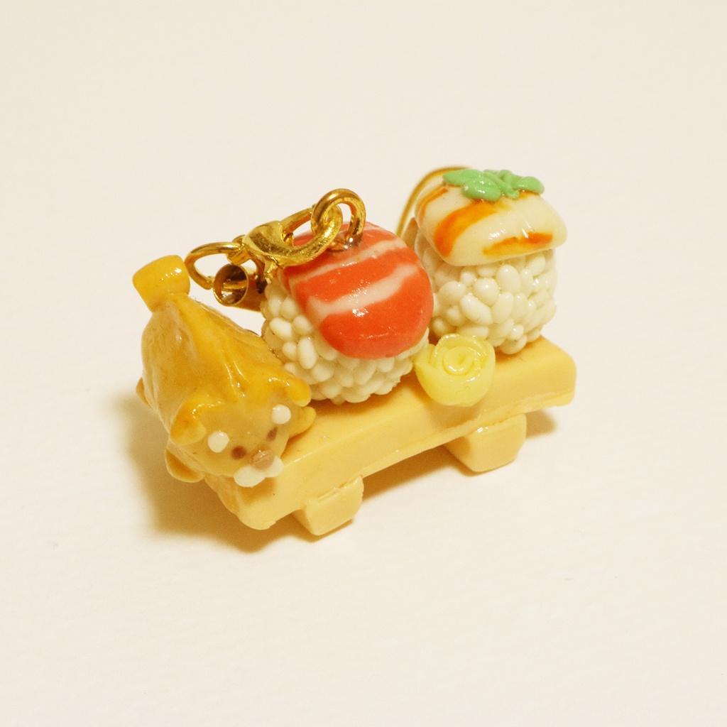 【受注】寿司柴犬ストラップ