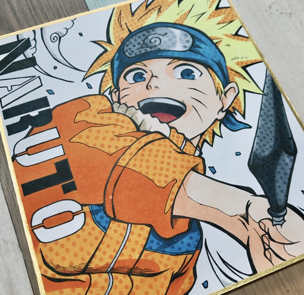 原画 ナルト Naruto 色紙イラスト 百鬼夜行 Booth
