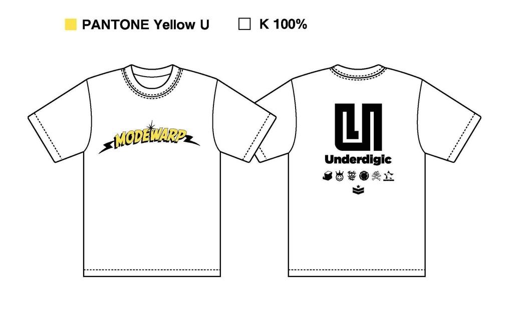 MODEWARP「UNDERDIGIC Tシャツ」