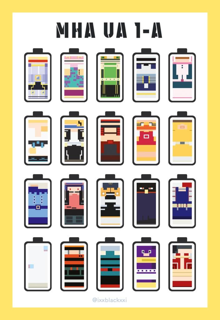 【アクリルキーホルダー】ヒロアカ モチーフキーホルダー キャラクターバッテリー