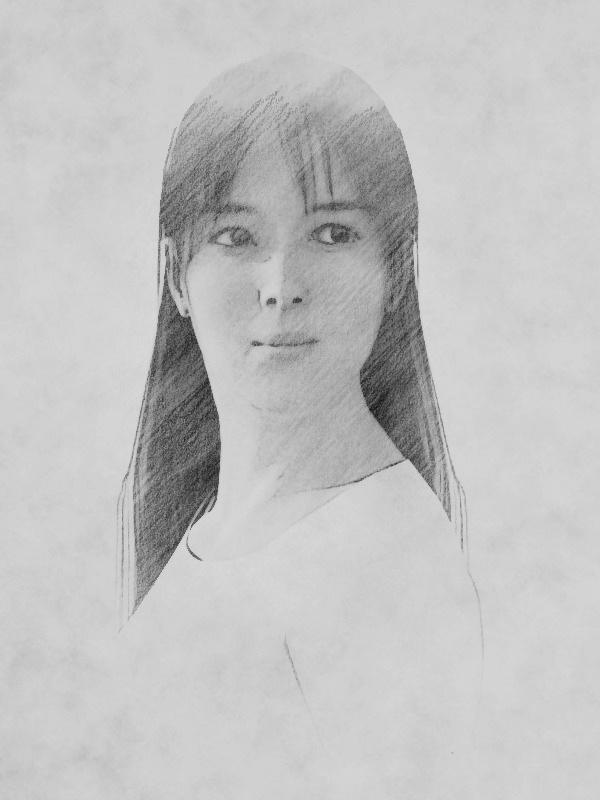 坂井泉水さんの似顔絵