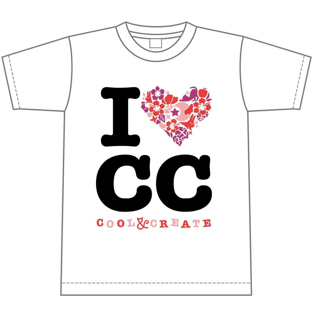 【セール】I❤CC Tシャツ・ホワイト