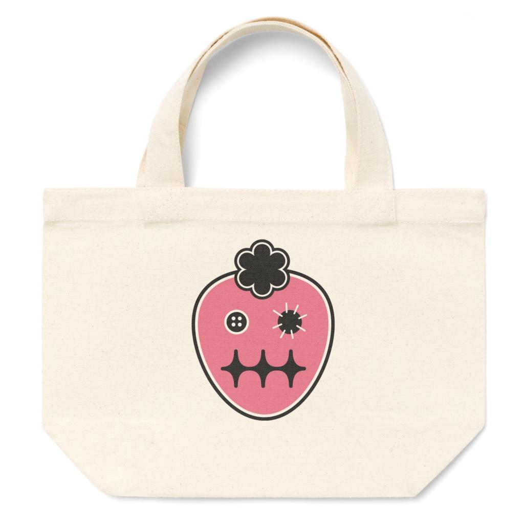イチゴおばけのトートバッグ