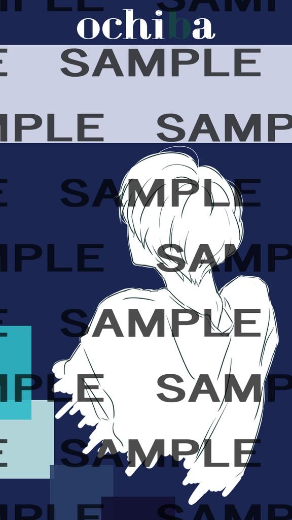 マッシュ男子オリジナルロック画面イラスト凩くん 凩くんの部屋