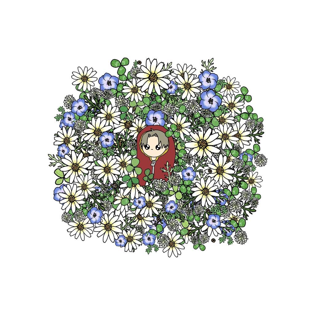 お花畑のマウスパッド